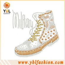 Iron on Clear Rhinestone Shoes Transfer Supplier