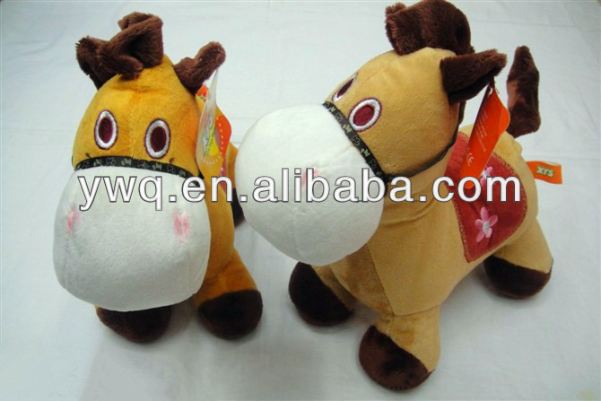 2014 Hot sale handsome cute horse toys plush soft stuffed toys