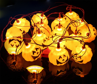 LED Halloween Paper Pumpkin Lantern light Party Decoration Hanging Props decorazioni di Halloween Hot