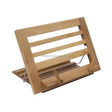 new product 2017 Promotional folding bamboo wooden book reading stand book holder in bed