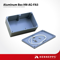 HN-AG-FA3 Hennepps 188*120*78 Custom Junction Box Price IP66 Waterproof Outdoor Enclosure Electronic Diy Aluminum Project Box