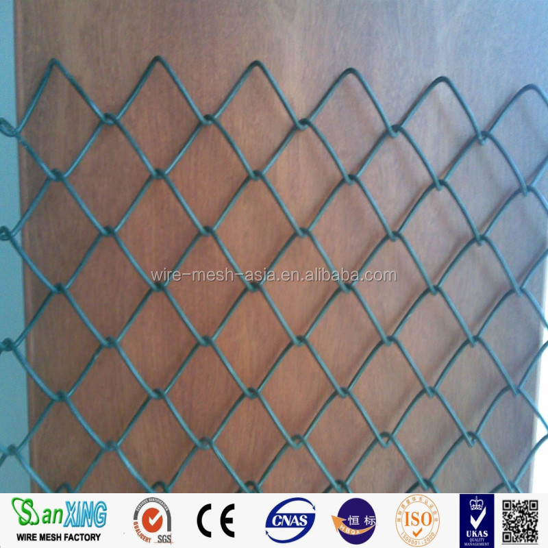 Galvanized&PVC coated CHAIN LINK FENCE/ISO9002 China wire mesh manufacturer/chain link netting