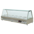 Restaurant Hotel Supplies Stainless Steel Counter Top Electric Buffet Food Warmer With Glass Top Shelf BN-B26