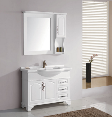 Commercial wall mounted double sink bathroom vanity