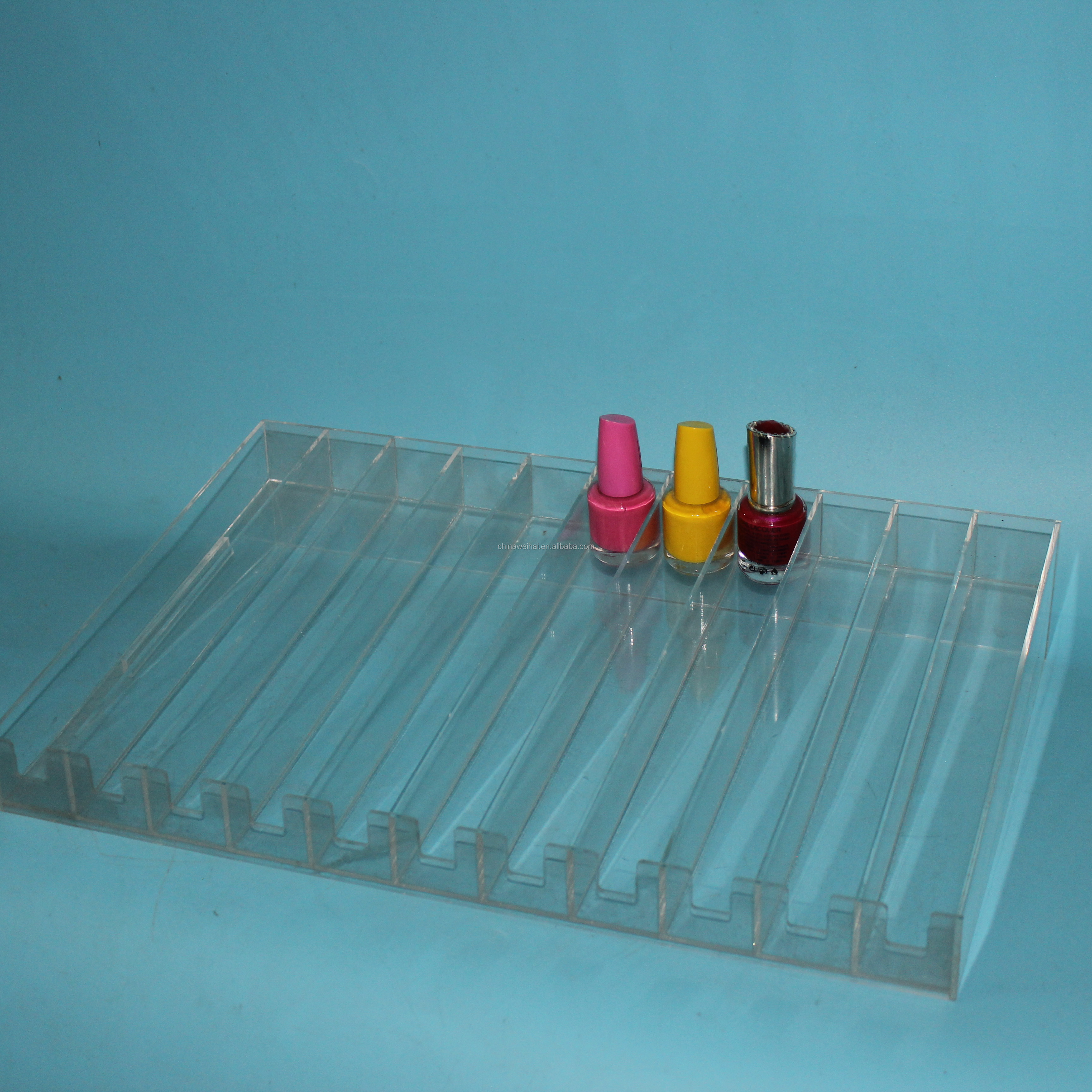 WEIHAI Customize Clear Acrylic Perfume Display Tray