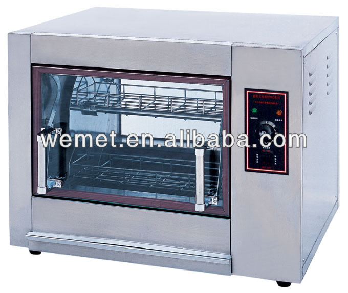 Rotary electric chicken rotisserie machine