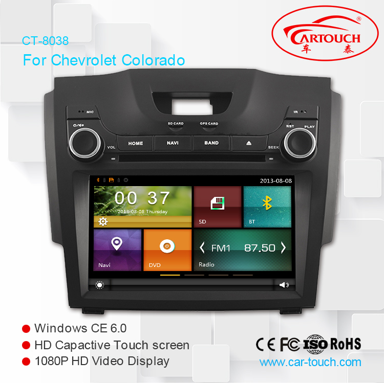 "8"" screen car DVD player for Chevrolet S10 2012- 2014 with GPS Navi ,3G,Wifi,A8 Chipset ,Bluetooth ,iPod,Free map support DVR"