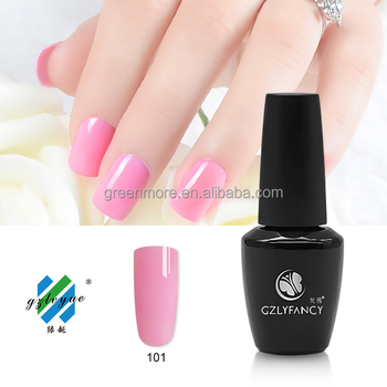 popular UV/LED gel soak off gel nail polish gel polish in various colors like pink, white and black