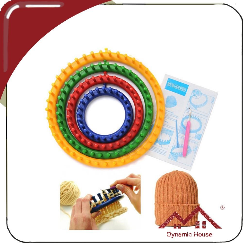 Round Knitting Loom Set Italiano : Diy set size plastic round circle knitting machine for