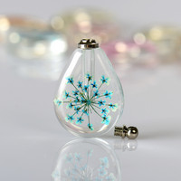 Most popular products bought online women fashionable crystal jewelry for sale real flower and leaf original pendant