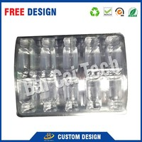Wholesale PVC folding waterproof transparent blister tray for sticking vial