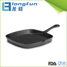 Gas/electric Cast Iron Square Korean Grill Pan