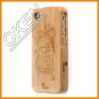 Free logo Fashion wooden bamboo phone case for sumsung S4/5/6/6adge/6adge+