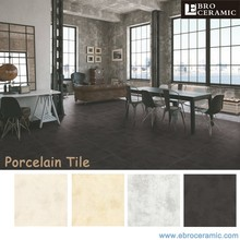 Factory Supply smooth surface cement feeling rustic porcelain floor tile prices 66MU04 24x24 600x600mm