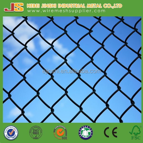Black PVC coated wire diamond mesh fence