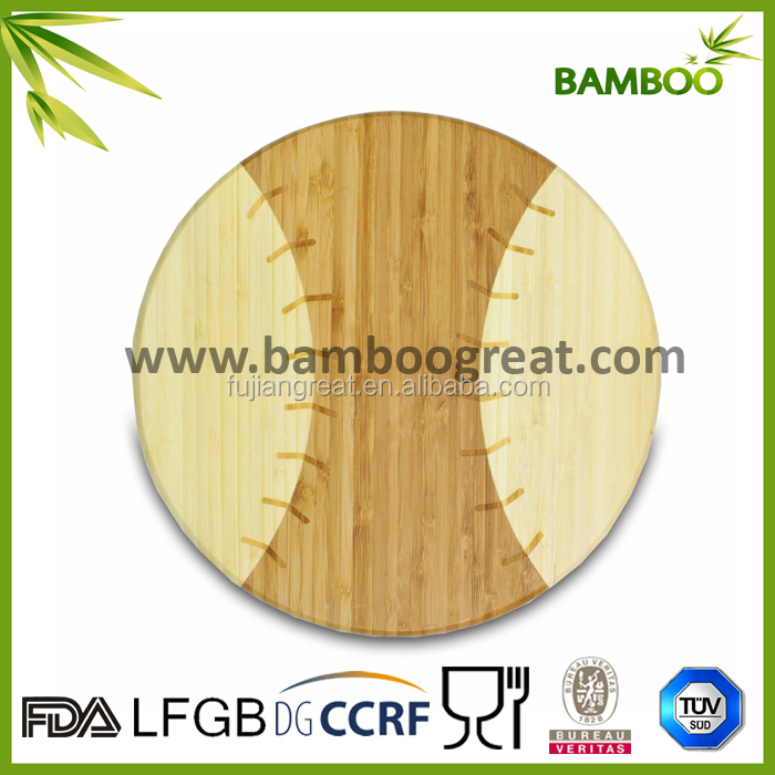 Two Stone Sturdy Round wood cutting boards wholesale With Engraved Logo