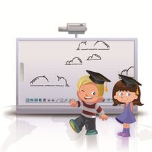 2014 new technology Ultrasonic electronic whiteboard white board standard size