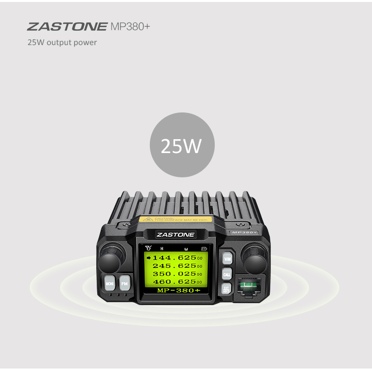 Quad band Cheap 25w Zastone MP380+ Vehicle Mouted Ham Transceiver