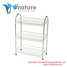 Strong material fruits shelf with wheels