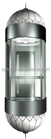 High Quality Panoramic Elevator glass carbin with sightseeing elevator