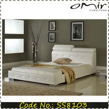 modern round white leather beds on sale SS8103
