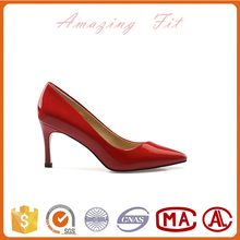 hot sale fashion sexy leather high heel woman shoe