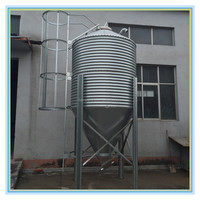 Poultry Feed Bins, Assembled Metal Bulk Feed Bins for Sale