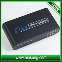 Supports 1080P 1.3b 1.4 version I in 4 out HDMI amplifier splitter hdmi splitter v1.3 1 input 4 output