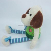 stuffed animal Long Legs Dog Dog Toy with string