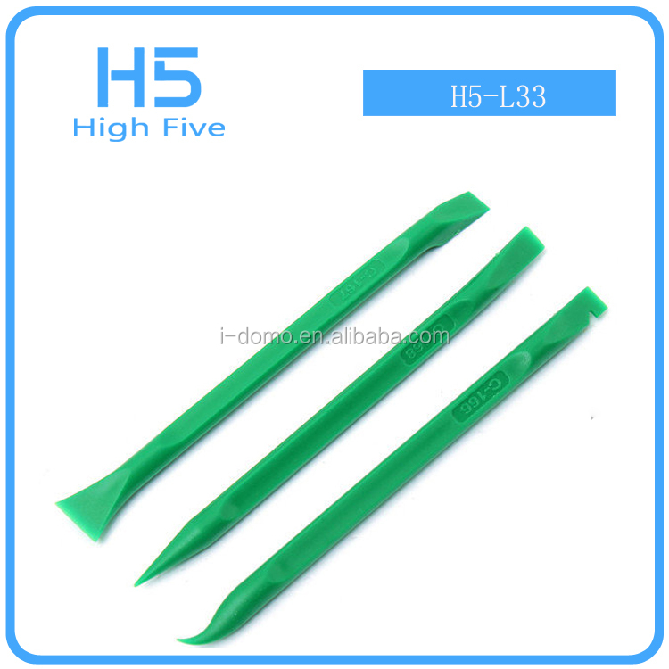 New green 3Pcs Plastic Spudger Repair Opening Pry Tool for iPhone Laptop Tablet Smartphone