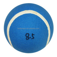 Custom logo 8.5 inch large inflatable blue tennis ball wholesale for kids playing