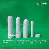 Blank Nasal Inhaler with High quality cotton wicks to fill the essential oil