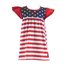 2016 fashion boutique baby stripe dress infant toddler patriotic day 4th of July dress