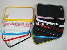 New Stereo Veins Design Dual Color PC TPU Case for BlackBerry Q10 BB10