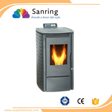 mini 6 KW small wood pellet stove with cast iron bucket