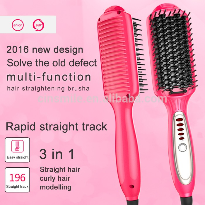 2in1 hair iron with hair straightener and curling iron function, automatic curling iron