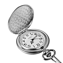 Engraving Silver Mens Wholesale Pocket Watch