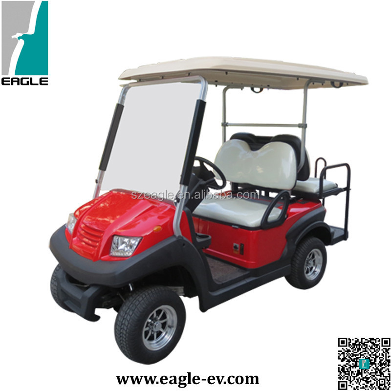4 seater new golf cart/golf buggy for sale with flip flop back seat CE certificate