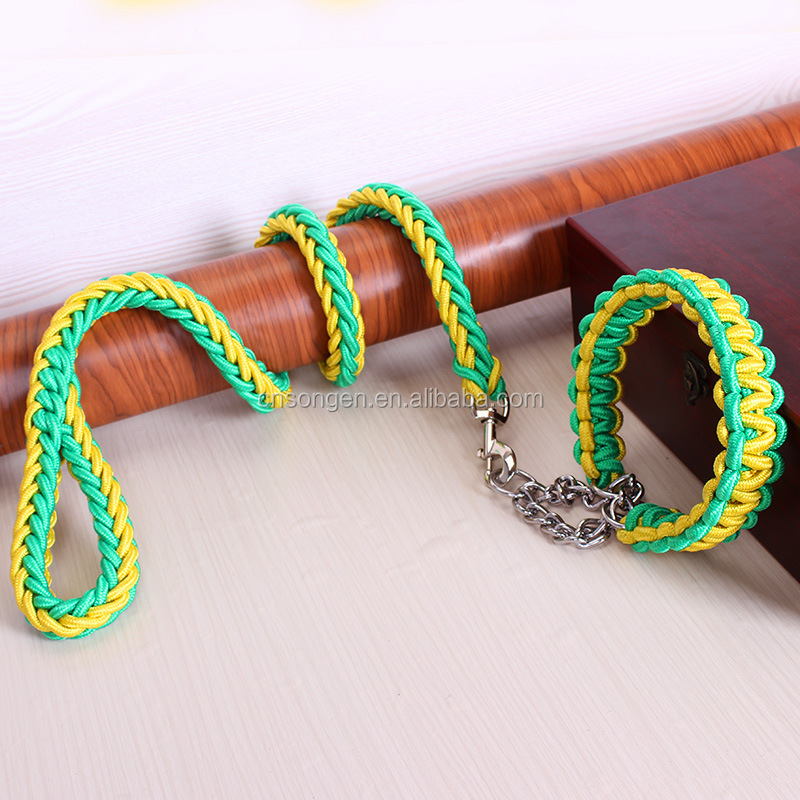 Heavy Duty Dog Big Dog Rope Leash Nylon octagonal rope