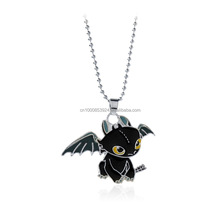 How To Train Your Dragon 2 Toothless Night Fury Metal Necklace Dragon Pendant Children Necklaces