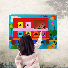 Top Quality Educational Activity Wood Board Magnetic Puzzle Toys