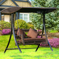 outdoor furniture swing seat set, round rattan outdoor bed outdoor swing A2046