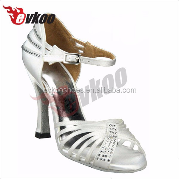 Beautiful white/purple/black satin shoes with rehinestone super stiletto high heel wedding shoes comfortable material dancing sh