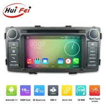Huifei Android 5.1.1 Car GPS Navigation with Steering Wheel Control,3G,Wifi for Toyota hilux left hand drive