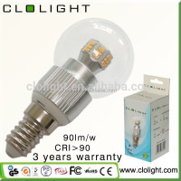 CE RoHS SAA FCC PSE LED lamp 3W E14 for indoor lighting