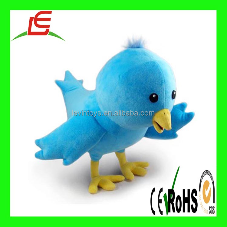 D204 ICTI top quality direct factory funny blue bird plush toy