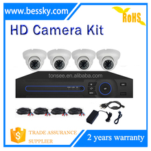 indoor 4ch ahd dvr kit 1080P cctv camera security system including 4pcs ahd camera and 4ch 4 in1 dvr
