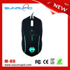 USB Wired Optical Scroll Wheel 4 Color Backlighting Gaming Mouse