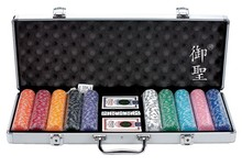 Poker Chips Set with Deluxe Aluminum Case - 500pcs Chips Set