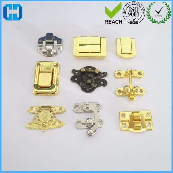 Mini Wood Box Hardware Small Jewellery Metal Hasp Lock Latch For Wooden Box Fittings